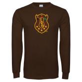 Brown Long Sleeve T Shirt-Crest