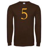 Brown Long Sleeve T Shirt-5