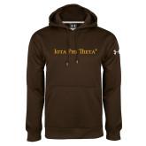 Under Armour Brown Performance Sweats Team Hoodie-Iota Phi Theta - Small Caps