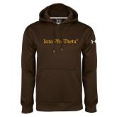 Under Armour Brown Performance Sweats Team Hoodie-Iota Phi Theta