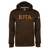 Under Armour Brown Performance Sweats Team Hoodie-IOTA - Small Caps