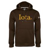 Under Armour Brown Performance Sweats Team Hoodie-Iota