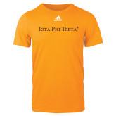 Adidas Gold Logo T Shirt-Iota Phi Theta - Small Caps