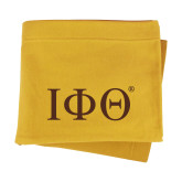 Gold Sweatshirt Blanket-Greek Letters