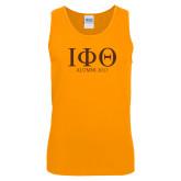 Gold Tank Top-Greek Letters Alumni Year