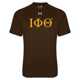Under Armour Brown Tech Tee-Greek Letters