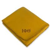 Gold Arctic Fleece Blanket-Greek Letters