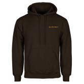 Brown Fleece Hoodie-Iota Phi Theta - Small Caps