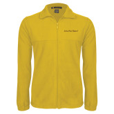 Fleece Full Zip Gold Jacket-Iota Phi Theta - Small Caps
