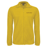 Fleece Full Zip Gold Jacket-Iota Phi Theta