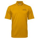 Gold Mini Stripe Polo-IOTA - Small Caps