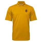Gold Mini Stripe Polo-Crest