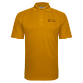 Gold Textured Saddle Shoulder Polo-IOTA - Small Caps