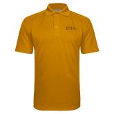 Gold Textured Saddle Shoulder Polo-IOTA - Small Caps