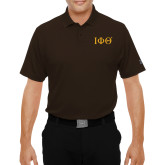 Under Armour Brown Performance Polo-Greek Letters