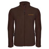 Fleece Full Zip Brown Jacket-Iota Phi Theta - Small Caps