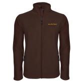 Fleece Full Zip Brown Jacket-Iota Phi Theta