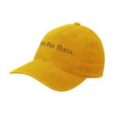 Gold Flexfit Mid Profile Hat-Iota Phi Theta - Small Caps