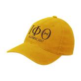 Gold Flexfit Mid Profile Hat-Greek Letters Alumni Year