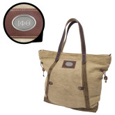 Canyon Ashton Linen Tote-Greek Letters  Engraved