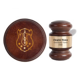 Personalized Gavel & Sound Block Set-Crest  Engraved