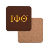 Hardboard Coaster w/Cork Backing-Greek Letters