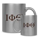 Full Color Silver Metallic Mug 11oz-Greek Letters