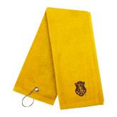 Gold Golf Towel-Crest
