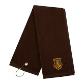 Brown Golf Towel-Crest