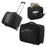 Wenger Transit Wheeled Black Compu Briefcase-Greek Letters