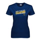 Big West Ladies Navy T Shirt-2015 Mens Soccer - UC Irvine