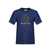 Youth Navy T Shirt-Water Polo