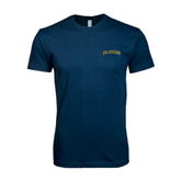 Next Level SoftStyle Navy T Shirt-UC Irvine Anteaters Arched