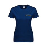 Ladies Navy T Shirt-UC Irvine Anteaters Arched