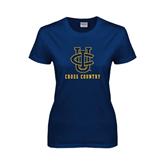 Ladies Navy T Shirt-Cross Country