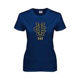 Ladies Navy T Shirt-Dad