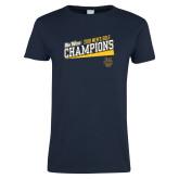 Ladies Navy T Shirt-2018 Mens Golf Champions