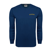 Navy Long Sleeve T Shirt-UC Irvine Anteaters Arched