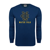 Navy Long Sleeve T Shirt-Water Polo