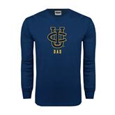 Navy Long Sleeve T Shirt-Dad