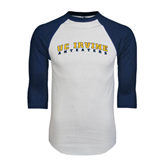 White/Navy Raglan Baseball T-Shirt-UC Irvine Anteaters Arched