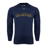 Under Armour Navy Long Sleeve Tech Tee-UC Irvine Anteaters Arched