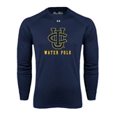 Under Armour Navy Long Sleeve Tech Tee-Water Polo
