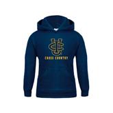 Youth Navy Fleece Hoodie-Cross Country