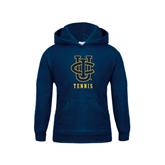 Youth Navy Fleece Hoodie-Tennis