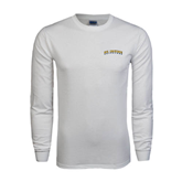 White Long Sleeve T Shirt-UC Irvine Anteaters Arched