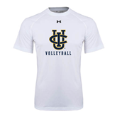 Under Armour White Tech Tee-Volleyball