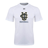 Under Armour White Tech Tee-Baseball