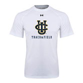 Under Armour White Tech Tee-Track and Field