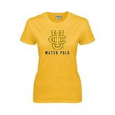 Ladies Gold T Shirt-Water Polo